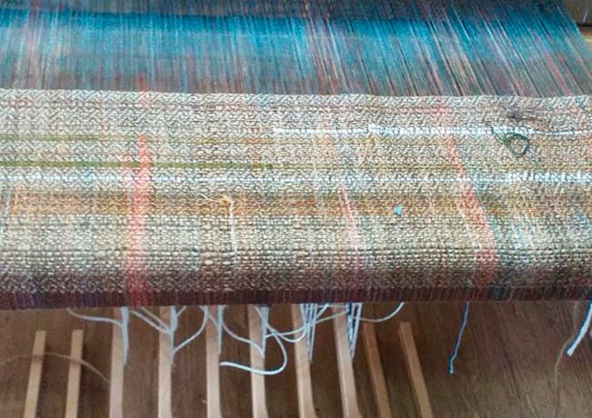 Weaving underway