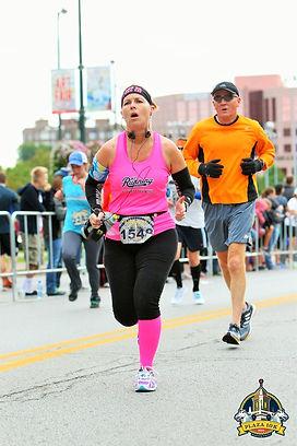 Plaza 10k Runner Finishing