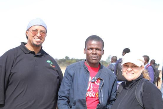 Nigel and Caron with Ian Mathole of All About Love Trust Zimbabwe