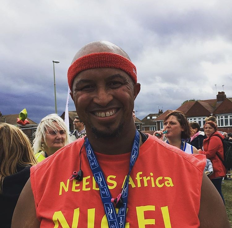 Nigel completed the Great North Run
