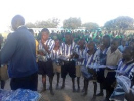 Some of the children who received support from us throughout the year