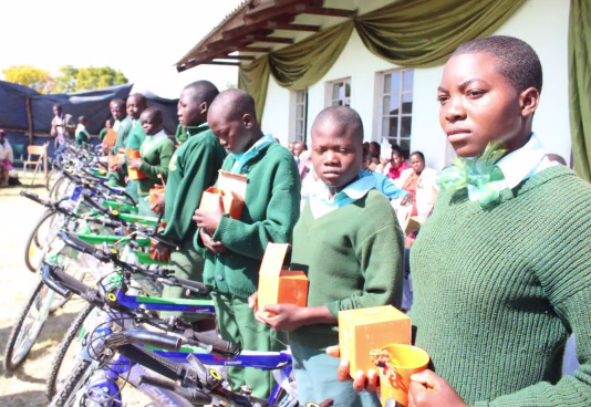 Presentation of Bicycles - Chiwundura Secondary School