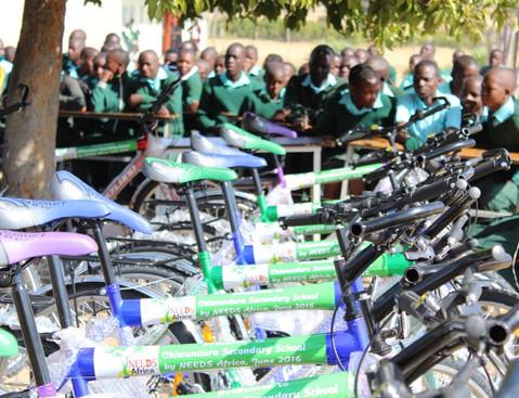 Presentation of Bicycles - Chiwundura Secondary School
