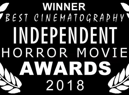 6 Nominations 3 Awards - Independent Horror Movie Awards