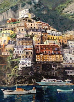 The Amalfi Coast- 18x24 - Oil
