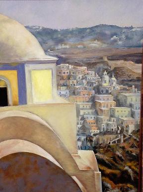 Santorini - 18x24, Oil