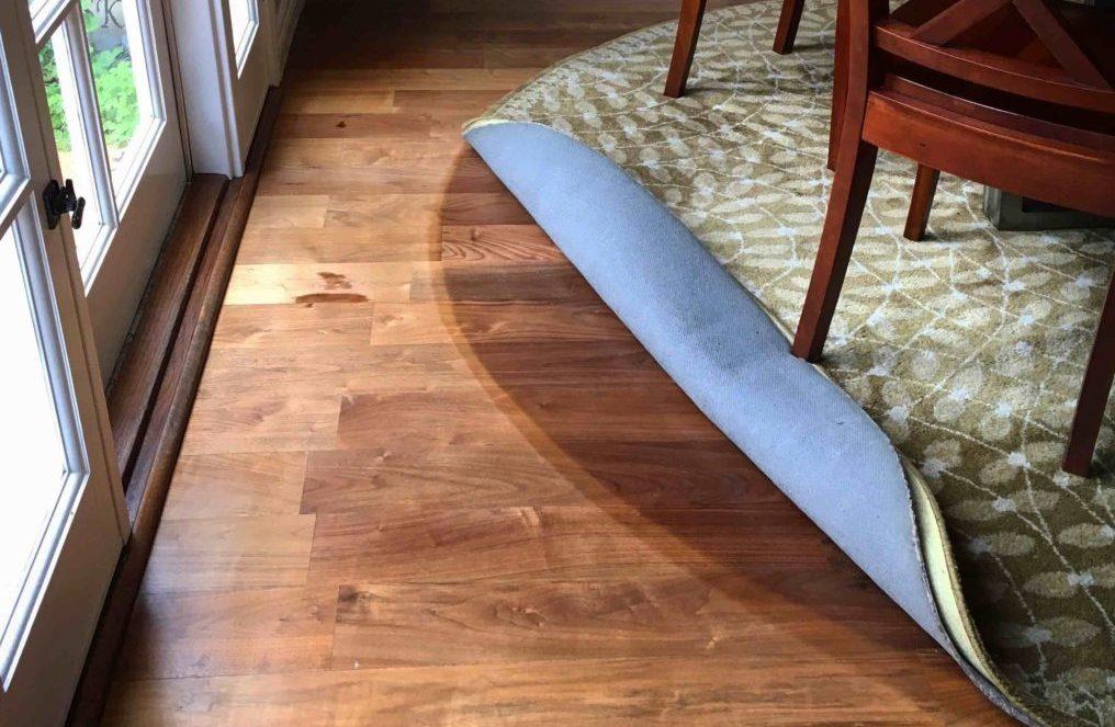 Wood floors damaged by sun