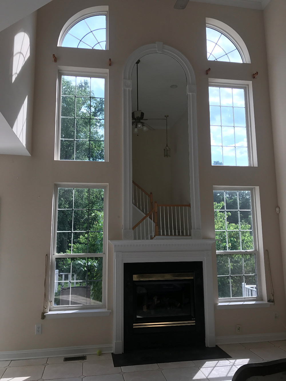 West Chester townhouse window tinting by Black Diamond Tint