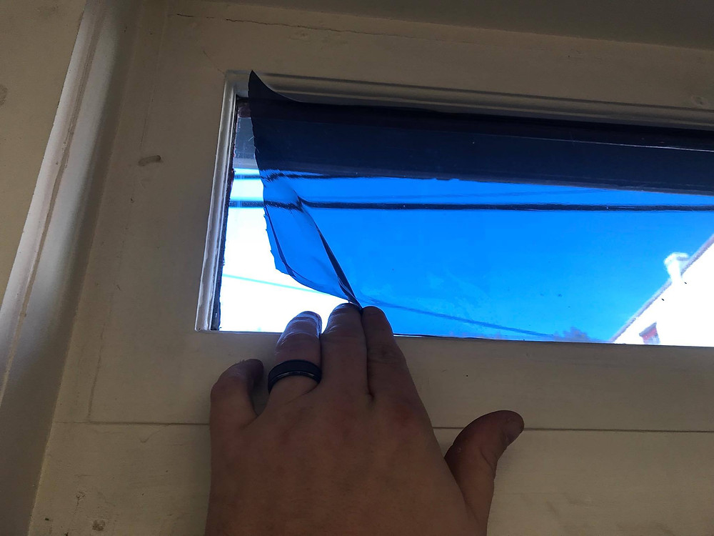 Removing static cling window film