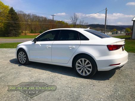 2017 Audi A3 came from Bethlehem for window tinting