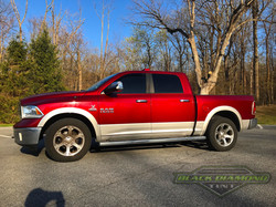 Red Ram 1500 with window tint