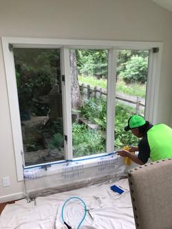 Window tinting in sunroom