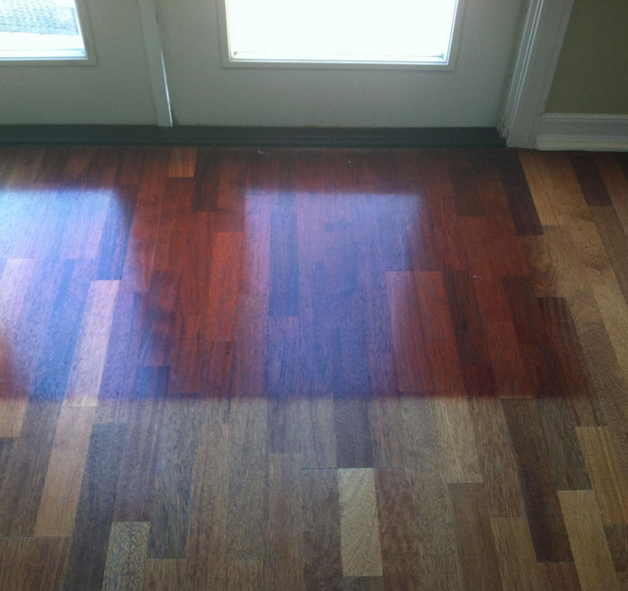 Damage from sun on floors