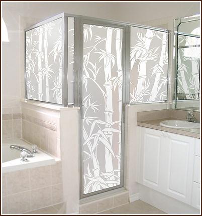Bathroom window tinting