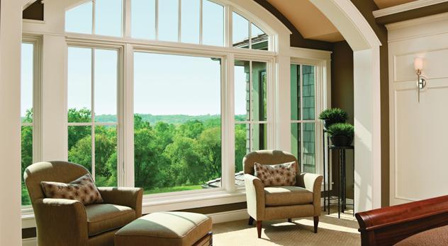 Professionally tinted house windows