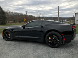 Black Corvette window tinted