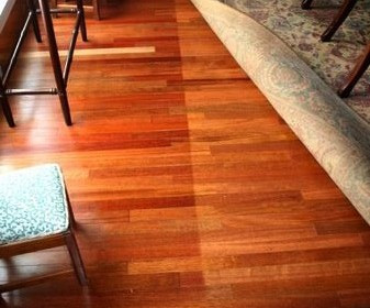 Stop Fading on hardwood floors