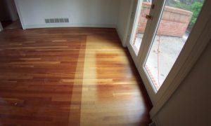 Sun bleached wood floors