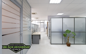 Custom frosted window films for glass