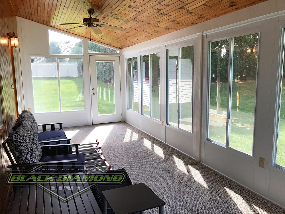 Sunroom window tinting in Tamaqua