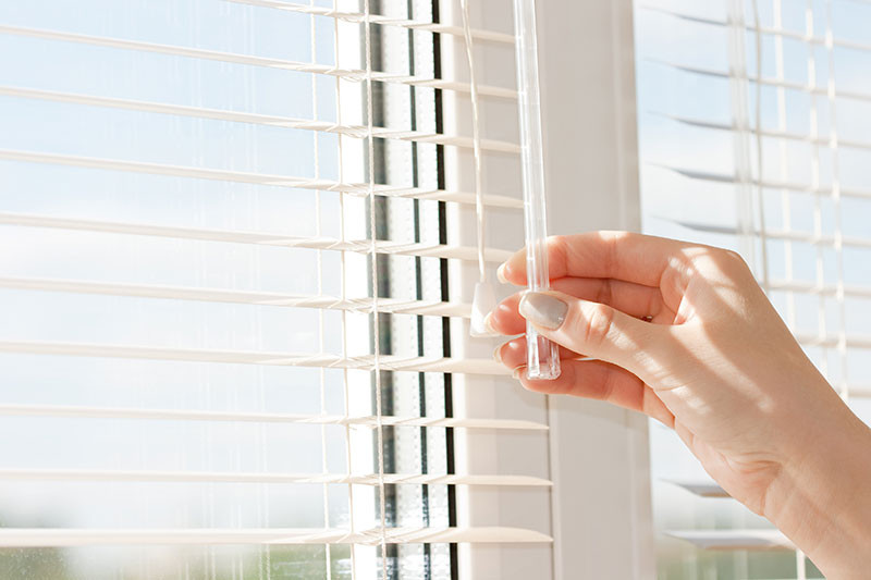Open blinds with Black Diamond Tint