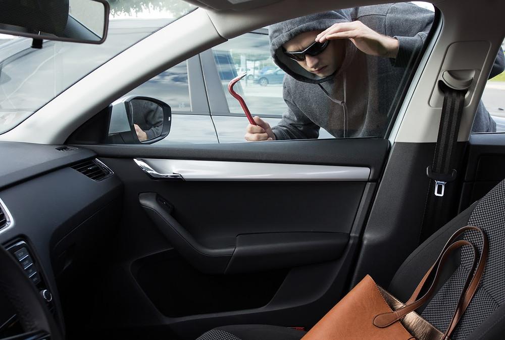 Vehicle break-ins with window tint