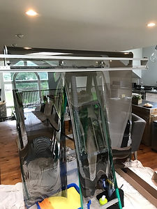 window tint cutting machine with window film on it