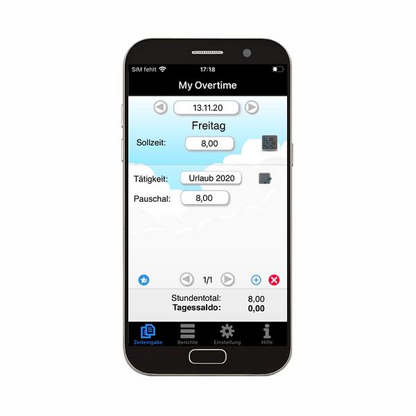 Übersichtliche Darstellung der Urlaubstage und Abwesenheiten in der App-Ansicht