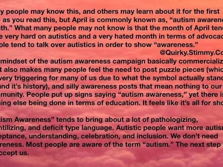 Autism Acceptance - beyond just awareness