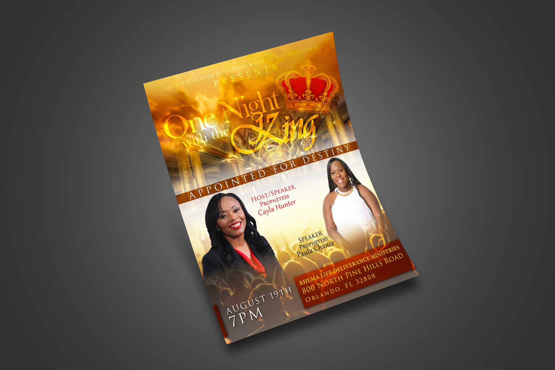 One Night with the King (Event Flyer)