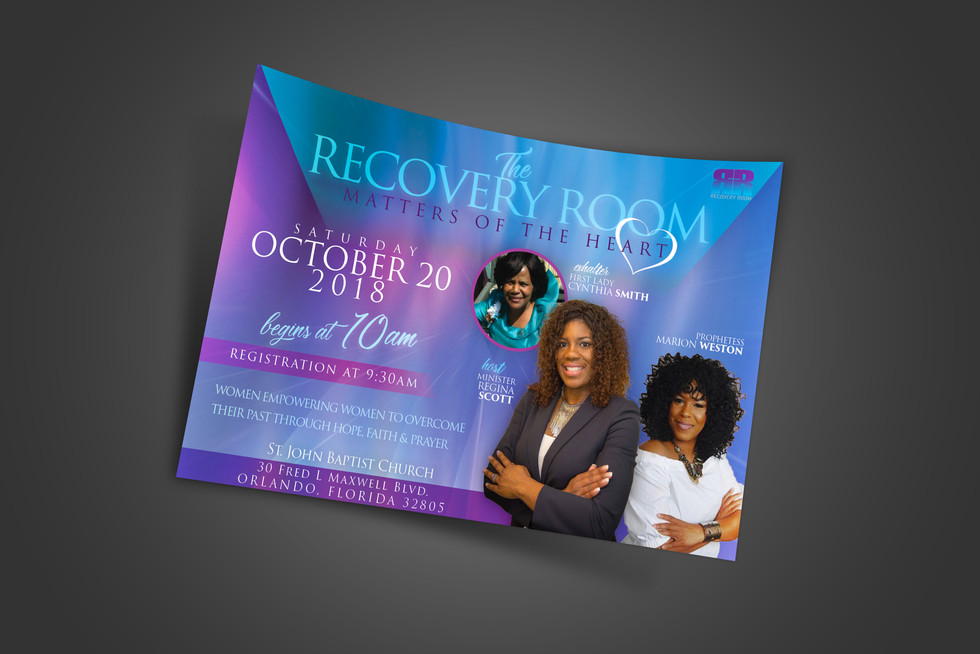 The Recovery Room (Event Flyer)