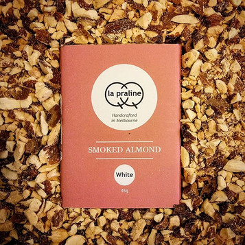 Smokey touch... Smoked almonds and white