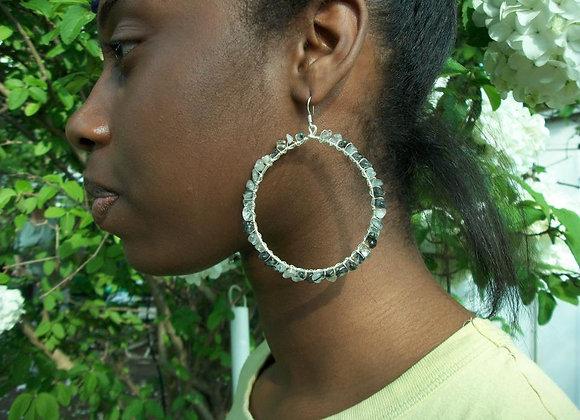 Black Rutilated Quartz Earrings