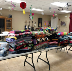Homemade Blankets donated to the shelter!