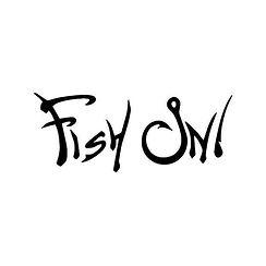 Fish-On-Fishing-Hook-3-Vinyl-Decal-Stick