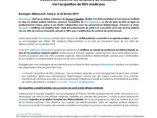 NEWS!!! Notre partenaire RDVmédicaux fusionne avec Docavenue, filiale du groupe Cegedim
