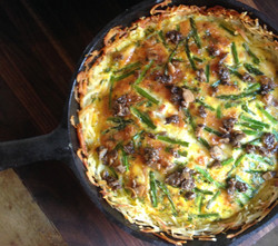A savoury potato crusted tart from Diane