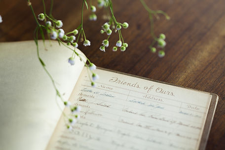 Guest book with flowers
