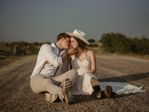 Zach and Brookie's day-after session in Coupland, Texas