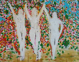 Girls Under Tree