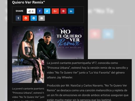 No te quiero ver Remix - Lanzamiento de la Semana