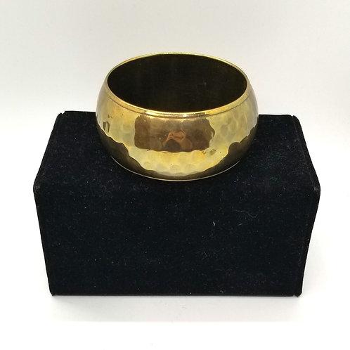 Hammered Brass Bangle
