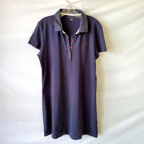 Tommy Hilfiger Navy Cotton Polo Dress - L