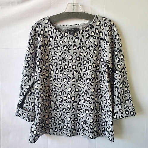 Tahari Animal Print Sweater - M