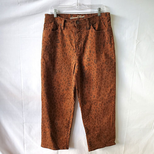 Universal Thread High-Waist Animal Print Cropped Jeans - size 12