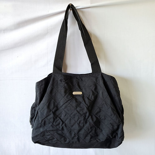 Baggallini Black Quilted Zipper Tote