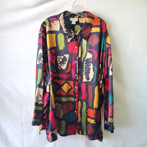 Avenue Abstract Pattern Shirt - size 30/32W