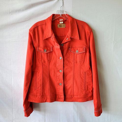 Levi's Cherry Red Denim Jacket - XL