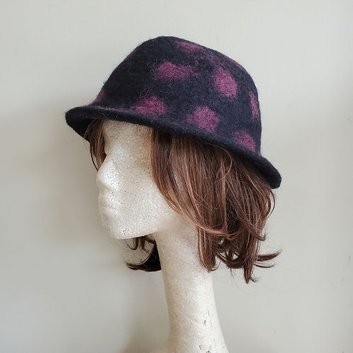 Handmade Felted Hat with Brim