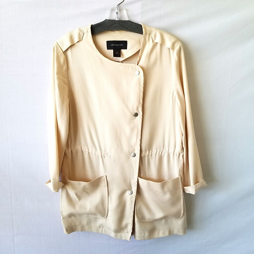 Ann Taylor Snap Front Jacket - M